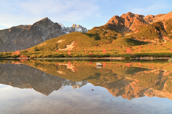 Biele Pleso after sunrise
