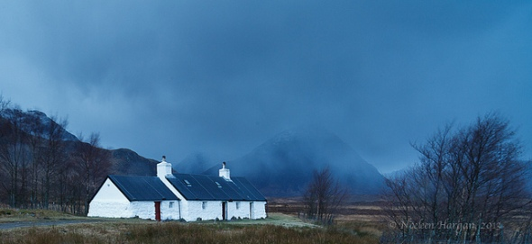 Black Rock cottage on a moody winter's day