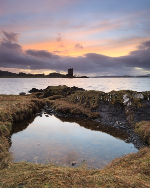I forget where I was that evening, but that's Castle Stalker in the distance