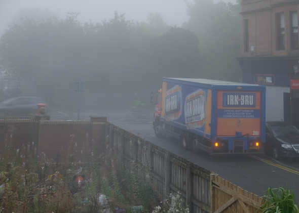 bru in the morning mist